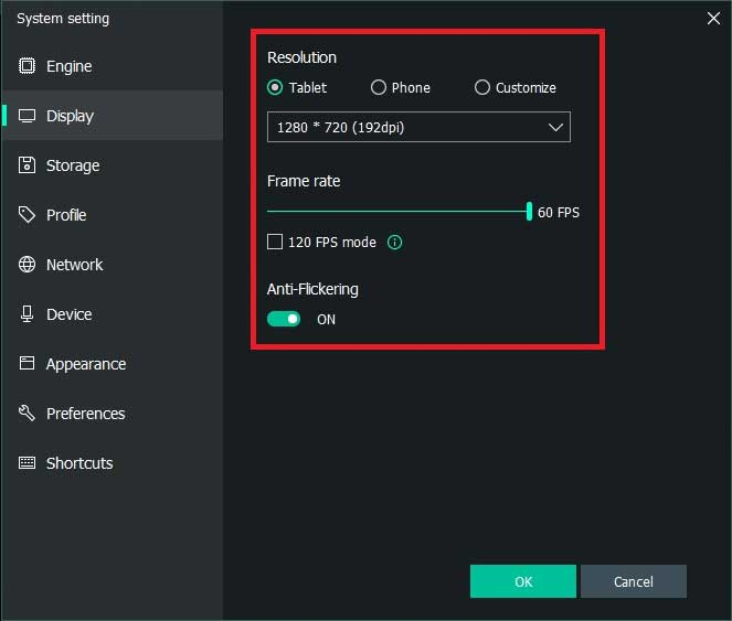 Altering Display Settings in MEmu Emulator