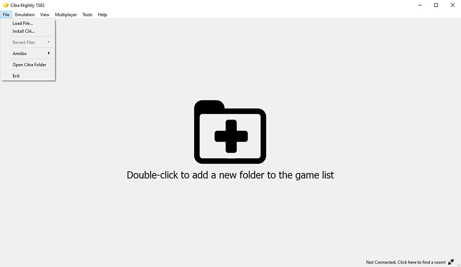 Citra 3ds emulator nightly build installed on PC