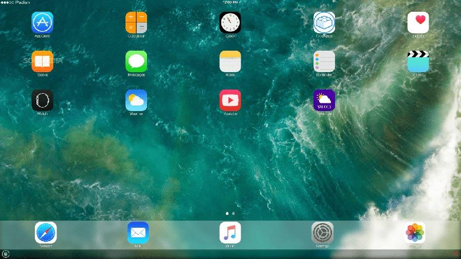 ipadian running fullscreen on windows 10 pc