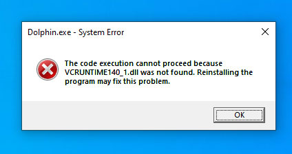 dolphin emulator installation error